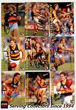 1995 Select AFL Series 1 Personal Autographed Cards Team Set Adelaide Crows (15)