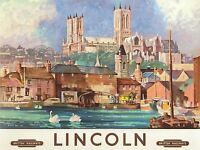 ART PRINT POSTER TRAVEL LINCOLN ENGLAND BRITISH RAILWAYS NOFL1109