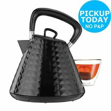 Cookworks 1.5L 3kW Textured Rapid Boil Kettle Black