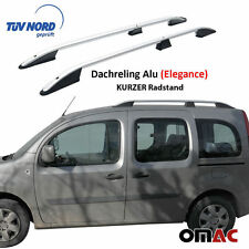 Dachreling Alu Grau Mercedes Citan Renault Kangoo 2008> mit TÜV ABE Kurz Rads