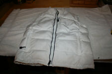 Ladies Medium North End Jack Daniels White Full Zip 70% Down Vest