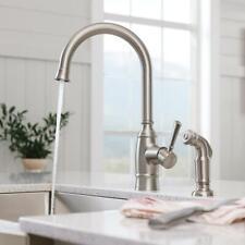 MOEN Noell 1-Handle Kitchen Faucet Side Sprayer Spot Resist Stainless NEW