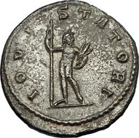 GALLIENUS 253AD Authentic Ancient Original Genuine Roman Coin JUPITER i65633