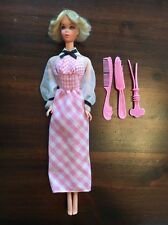 Vintage 1973 Quick Curl Barbie Doll #4220 in Original Dress Comb Brush Curler