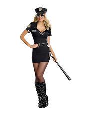 Sexy Costume Poliziotta donna Travestimento Carnevale da sexy + COLLANT A RETE