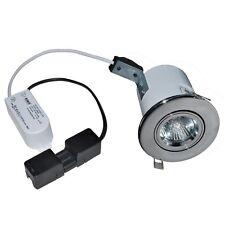 Robus 35w en Chrome Brossé 30 60 90 min Nominale Fire Lampe Plafonnier Basse