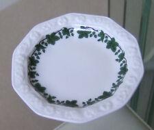 Rosenthal Classic Rose Pattern burro Pat Dish-Bordo Verde su Bianco **