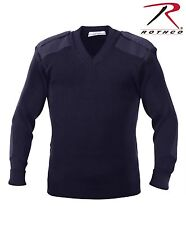 Rothco Acrylic V-neck Sweater Large Navy