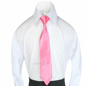 New 9 Color Satin Clip-On Ties for Baby Toddler Kid Teen Boy Suit sz S-XL(S-20)