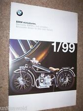 BMW Miniatures A1 Poster Catalogue Brochure Katalog 1999 Model Cars Bikes MINT