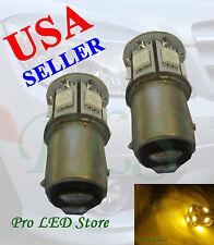 1157 3497 7528 Yellow 9 SMD LED BAY15D Signal Reverse Tail Stop Sidemarker Light