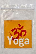 "Square Medium Red, White & Orange ""Yoga"" Indoor/Outdoor Magnet (New W/O Tags)"