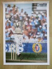 CURTLY AMBROSE - WEST INDIES 1995 Tour - Authentic Signed Cricket Poster