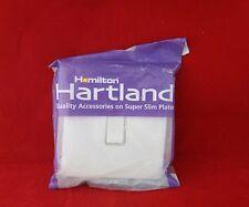 Hamilton 7WCR21WH-W Blanco Brillante Blanco Insertar sin tornillos 10A Interruptor