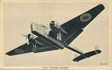 POSTCARD   AVIATION     RAF   HAMPDEN  Bomber