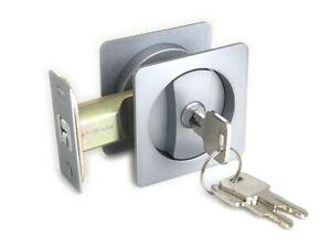 Cavity Sliding door Lock Entrance Set SATIN FINISH FREE POSTAGE SQ
