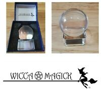 Wicca Magick Minature Crystal Ball Set,Witchcraft,Divination,Tarot,Pagan,Occult,