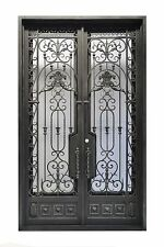 """72"""" x 96"""" Stunning, Hand-Crafted, 12-Gauge Wrought Iron Entry Doors $3485"""