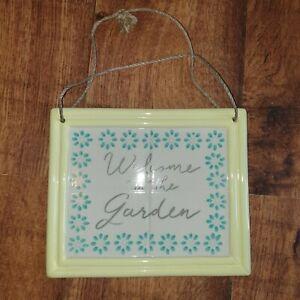 Ceramic garden decoration/sign