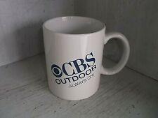 Vintage CBS OUTDOOR Always On Television Coffee Mug Cup 10 oz