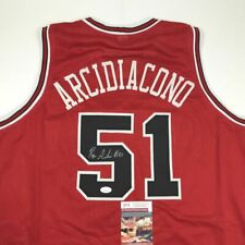 Autographed/Signed RYAN ARCIDIACONO Chicago Red Basketball Jersey JSA COA Auto