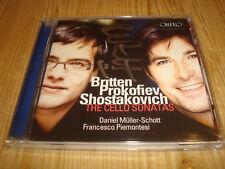 DANIEL MÜLLER-SCHOTT Britten Shostakovich Cello Sonatas ORFEO CD Signed Signiert