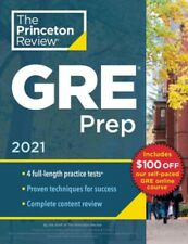 CRACKING THE GRE 2021 Princeton Review NEW book graduate school test study guide