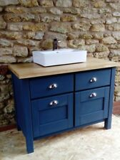 rustic vanity unit with oak top made to order (see description)