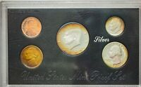 1992-S USA SILVER PROOF SET 5 COINS GEM COLOR UNC CHOICE MONSTER TONED (DR)