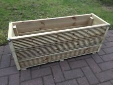 Super JUMBO EXTRA LARGE 3FT Long Wooden Planter Trough Decking Garden Plant Tub
