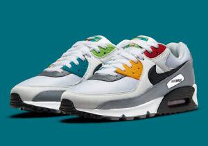 "Nike Air Max 90 PRM Men Shoes ""Peace & Love"" White/Black/Photon Dust DM8151-100"