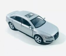 """New 5"""" Kinsmart Audi A6 Diecast Model Toy Car 1:38 Scale Pull Action Silver TB3"""