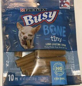 Purina Busy Bone Tiny Long-Lasting Extra Small  Dog Treats ,(2)-10 Count Bones