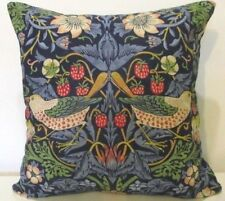 Sanderson William Morris Strawberry Thief Indigo & Navy Velvet Cushion Cover