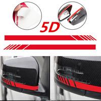 5D Carbon Fiber Car Rearview Mirror Sticker Racing Stripes Decorative Decals---