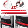1x 5D Carbon Fiber Car Rearview Mirror Sticker Decorative Decals 3 Colors