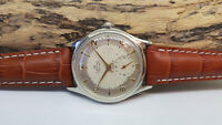 USED VINTAGE SMITHS DELUXE SUB SECOND SILVER DIAL MANUAL WIND MAN'S WATCH