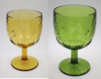 Hoffman House Imperial Style Thumbprint Swirl Glass Goblet Set of 2