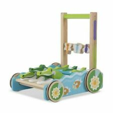 Melissa & Doug 3129 First Play Chomp and Clack Alligator Wooden Push Toy and