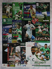 More details for england v ireland home and away rugby programmes 2000 to 2015 good+ condition