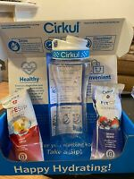 Cirkul Infuser Bottle & Two Flavor Cartridges, Fruit Punch and Mixed Berry