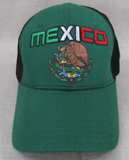 WORLD SPORT Youth Unisex National Soccer Team Hat Cap Mexico Green Black NEW