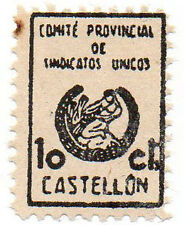 Sello Local Guerra Civil Castellon -Cat. Edifil 18.  ORD:1676