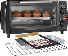 MisterChef® 10L Electric Mini Small Oven Grill 800W Table-Top 30 Min Timer Black