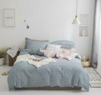 3D Blue Plaid ZHUA2529 Bed Pillowcases Quilt Duvet Cover Set Queen King Zoe