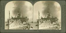 British Battle Cruiser Indomitable Which Sank German Blücher - WW1 Stereoview