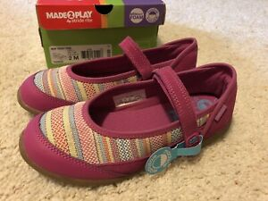 NEW! NEVER WORN! Stride Rite Girls Mary Jane Shoes! Size 2M MADE2PLAY Terry Pink