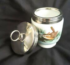Royal Worcester Porcelain King Size Egg Coddler with Lid Bird Wren Finch England