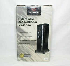 Electric Radiant Heater Pelonis 1500W Mechanical Oil-Filled 3-Setting PSH07O2ABB