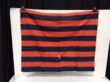Pottery Barn PB Teen Navy Orange Stowe Stripe Pillow Cover Sham Standard Flannel